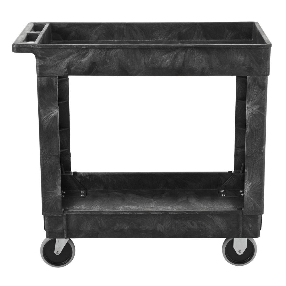 Rubbermaid Commercial Products 34 in. x 16 in. 2-Shelf Heavy Duty Utility Cart