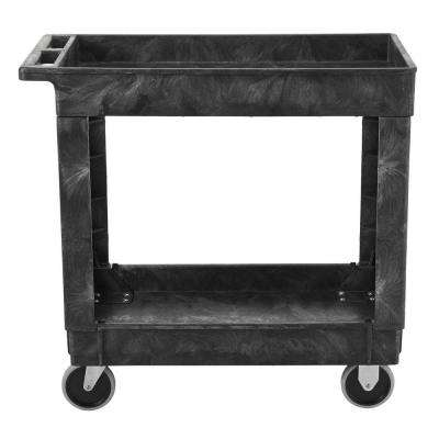 34 in. x 16 in. 2-Shelf Heavy Duty Utility Cart