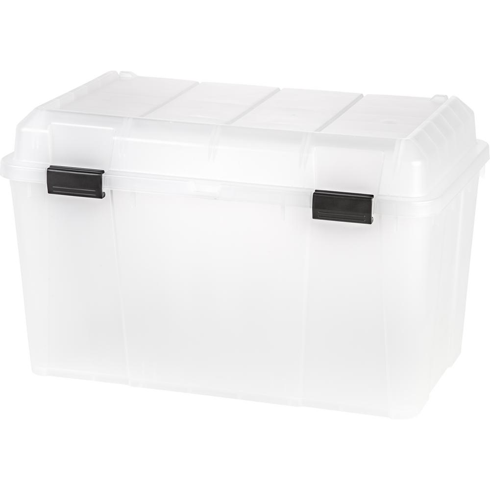 138 Qt. Storage Tote in Clear (3-Pack)