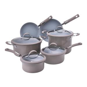 Click here to buy Hamilton Beach 10-Piece Champagne Cookware Set with Lids by Hamilton Beach.