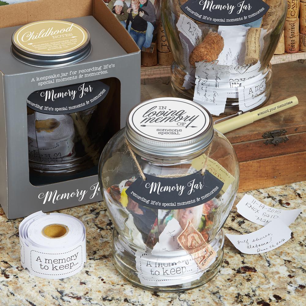 Top shelf Clear Glass Love Notes Memory Jar