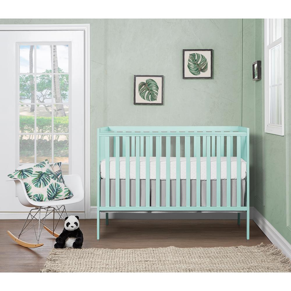 Dream On Me Synergy Mint 5 In 1 Convertible Crib