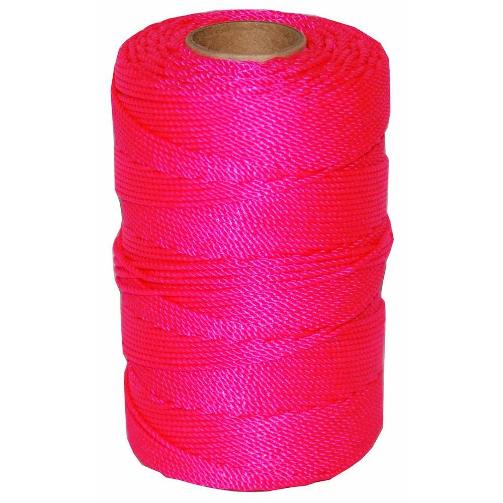 T.W. Evans Cordage #18 x 1100 ft. Twisted Nylon Mason Line in Pink