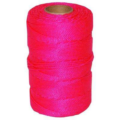 #18 x 1100 ft. Twisted Nylon Mason Line in Pink
