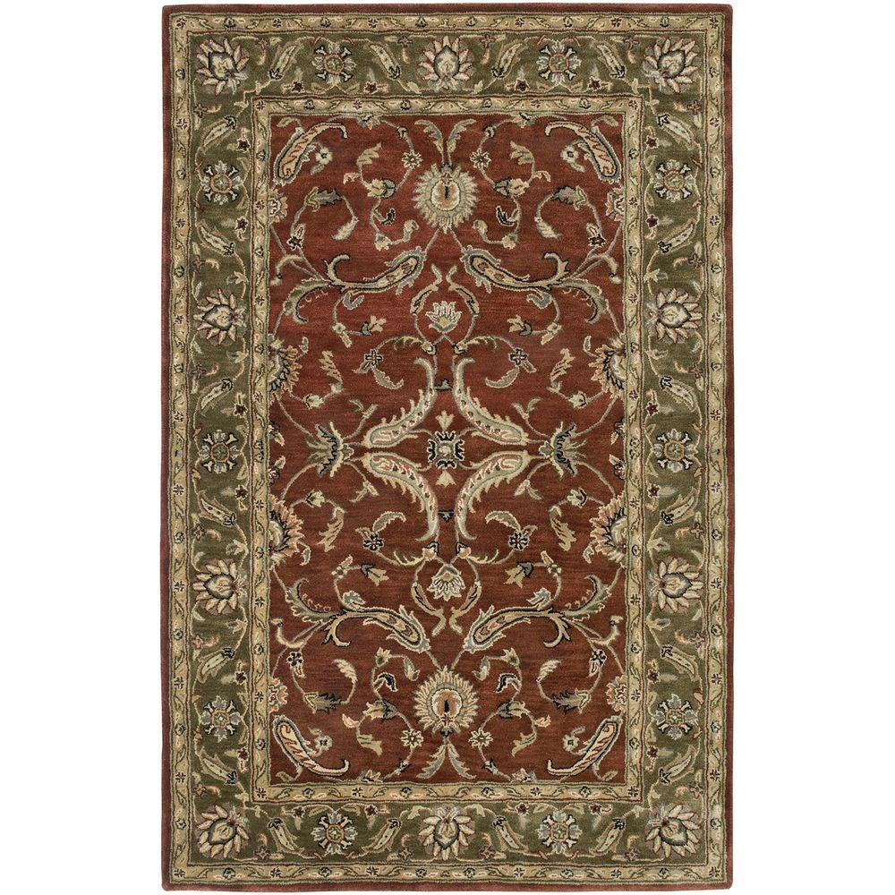 LR Resources Heritage Rust/Green 3 ft. 6 in. x 5 ft. 6 in. Traditional Indoor Area Rug