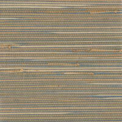 Jissai Mariner Blue Grasscloth Wallpaper