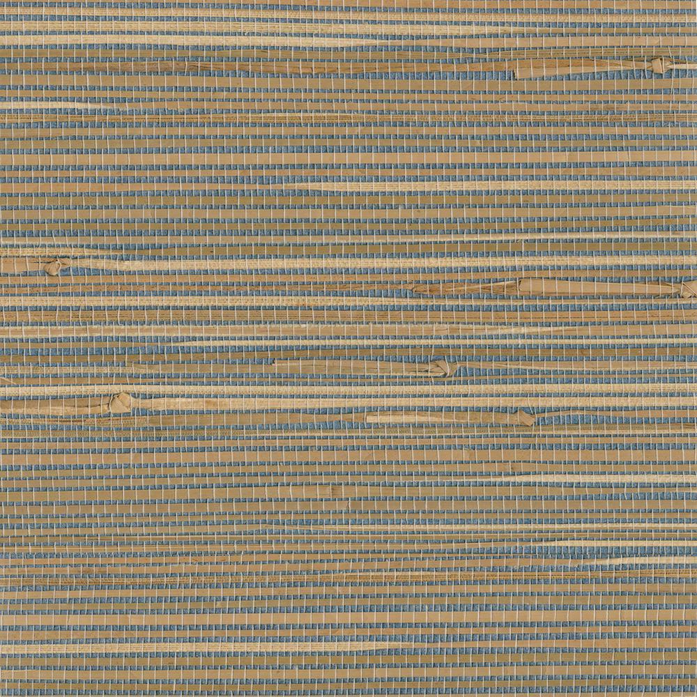 Jissai Mariner Blue Grasscloth Wallpaper Sample