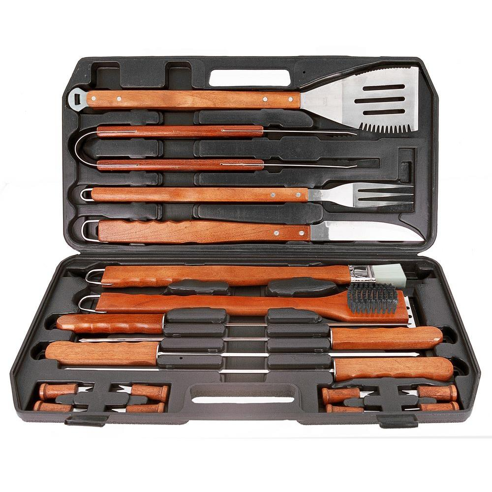 Mr. Bar-B-Q 18-Piece Gourmet Stainless Steel Grill Tool Set-DISCONTINUED