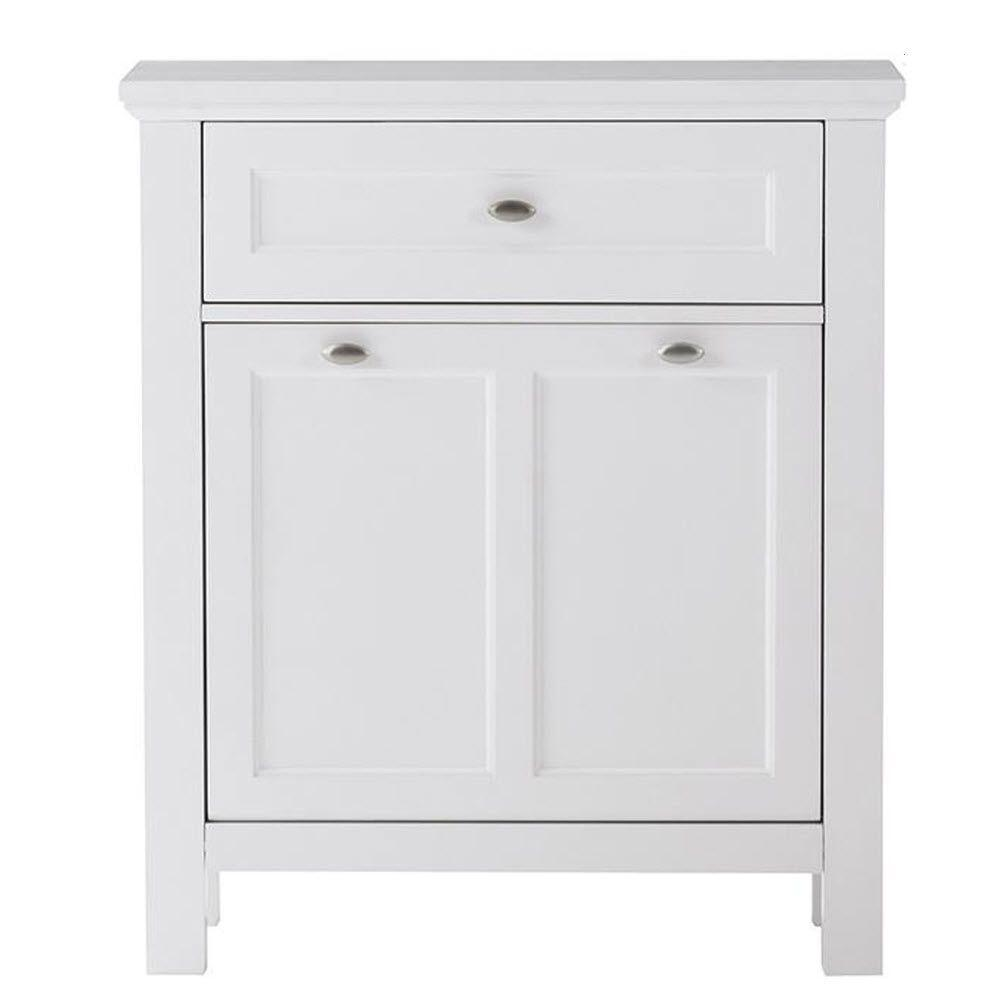 Home Decorators Collection Austell 28.5 in. W Tilt-Out Hamper in White