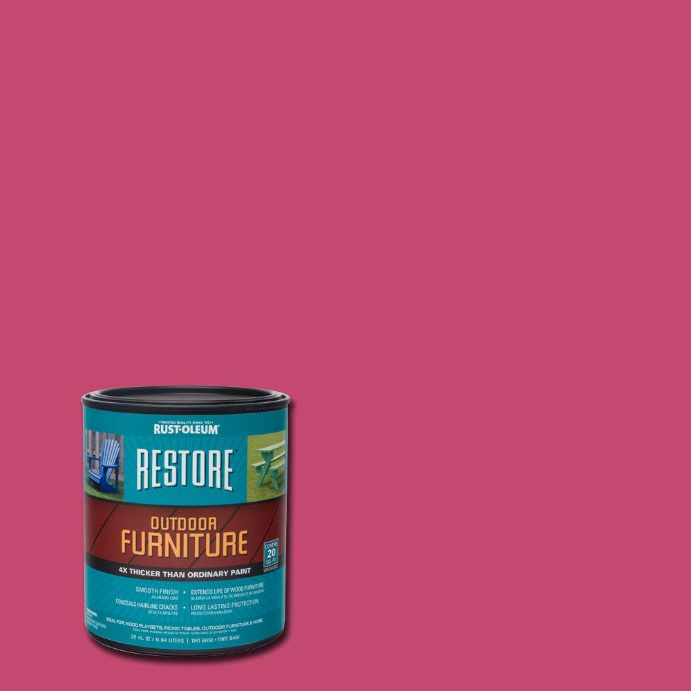 Attractive 1  Qt. Berry Pink Outdoor Furniture Exterior Solid Stain