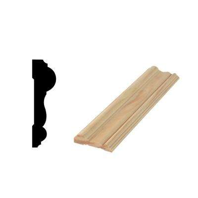 WM 298 11/16 in. x 2-1/2 in. x 96 in. Solid Pine Chair Rail Moulding