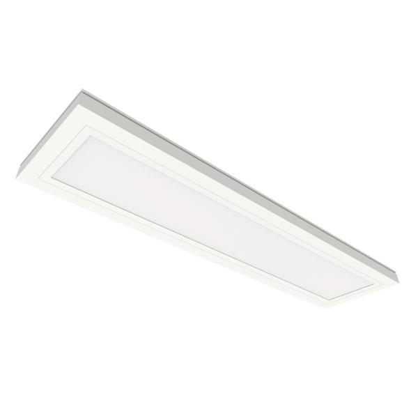 6 in. x 2 ft. 12.5-Watt Dimmable White Integrated LED Edge-Lit Flat Panel Flush Mount Light with Color Changing CCT