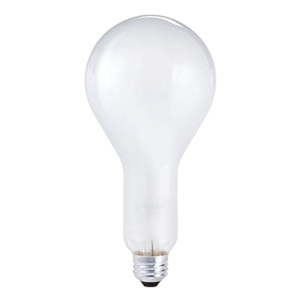 Philips 200-Watt Incandescent PS30 Silicone Coated Frosted Light Bulb