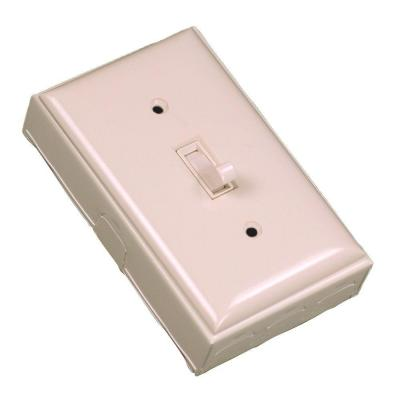 Wiremold 500 Series Metal Surface Raceway Single Pole Switch Kit, Ivory
