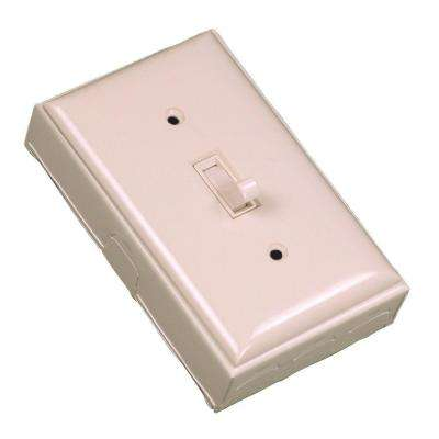 500 Series Metal Surface Raceway Single Pole Switch Kit, Ivory
