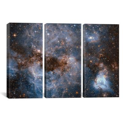 """""""Maelstrom Of Glowing Gas And Dark Dust, Papillon Nebula, N159"""" by NASA Canvas Wall Art"""