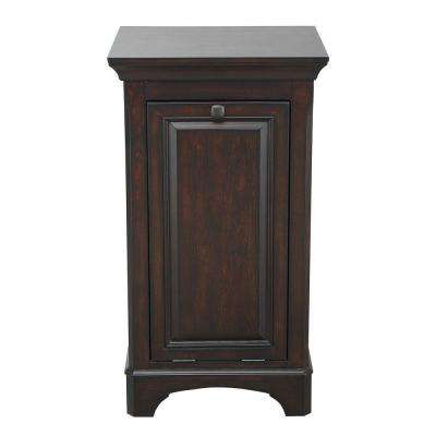 Moorpark 19 in. W x 34 in. H Bathroom Linen Storage Hamper in Burnished Walnut