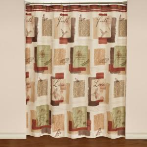 Saturday Knight Inspire 72 inch Multicolored Polyester Shower Curtain by Saturday Knight