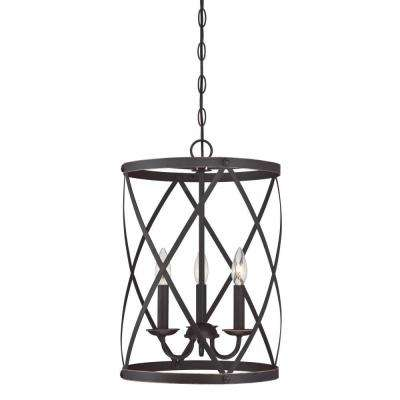 18-3/4 in. Oil Rubbed Bronze Shade with 2-1/4 in. Fitter and 12-3/4 in. Width