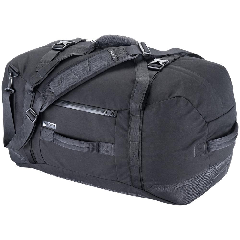 9.84 in. Black Water-Resistant Duffel Bag