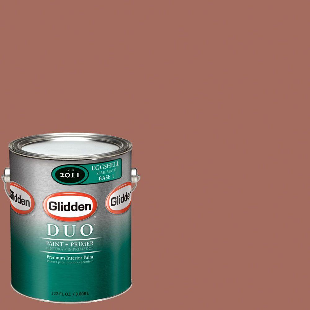 Glidden DUO Martha Stewart Living 1-gal. #MSL017-01E Cinnamon Stick Eggshell Interior Paint with Primer-DISCONTINUED