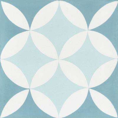 Circulos A Cielo 7-7/8 in. x 7-7/8 in. Cement Handmade Floor and Wall Tile