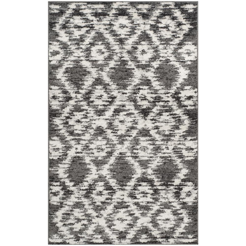 Adirondack Charcoal/Ivory 2 ft. 6 in. x 4 ft. Area Rug