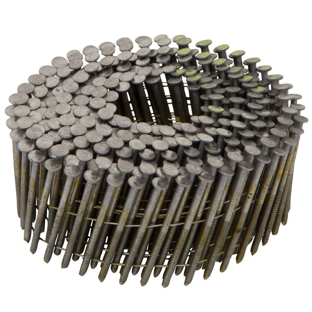 1-3/4 in. x 0.092 Ring Shank 15-Degree Coil Siding Nails (3600-Pack)