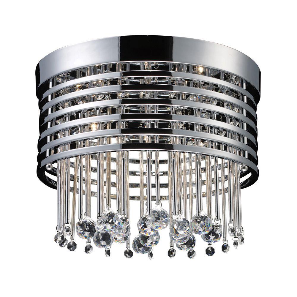 Rados 5-Light Polished Chrome Ceiling Flushmount