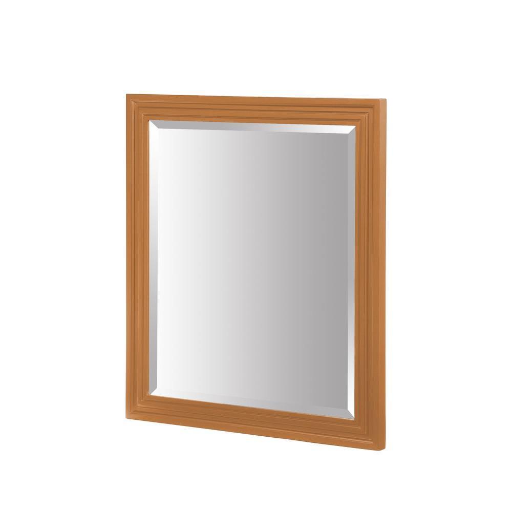 RYVYR Colorado 32 in. x 24 in. Framed Wall Mirror in Maple