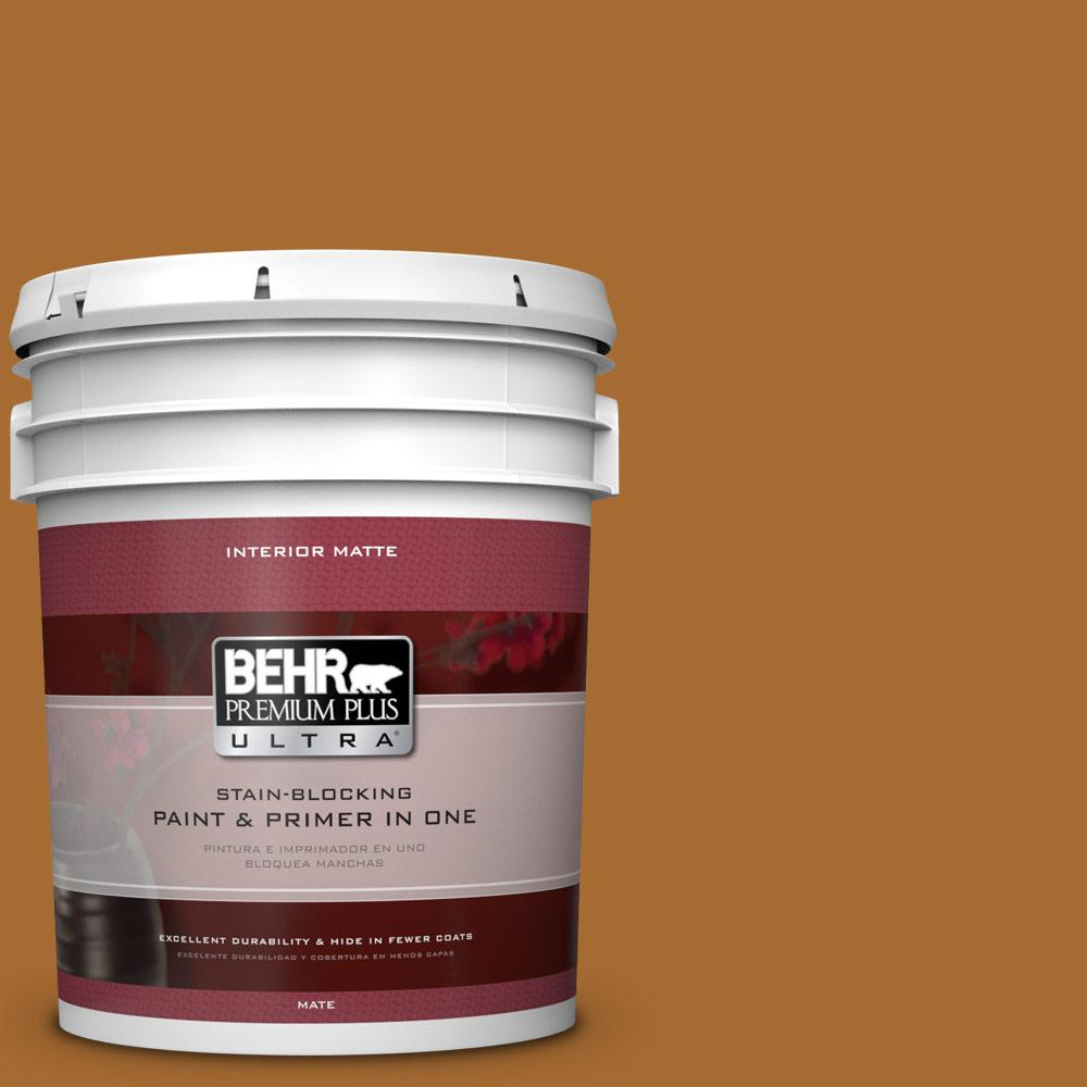 5 gal. #280D-7 Sesame Crunch Matte Interior Paint and Primer in