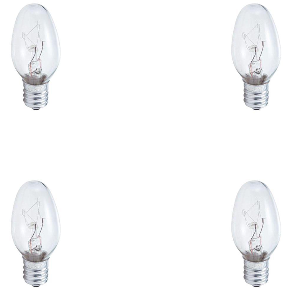 Philips 7 Watt C7 Incandescent Night Light Replacement Light Bulb 4 Pack
