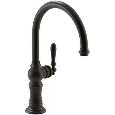 Artifacts Swing Spout Single-Handle Standard Kitchen Faucet in Oil Rubbed Bronze
