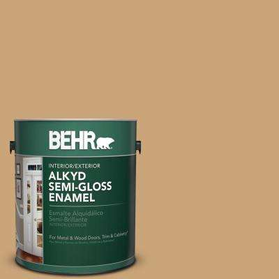 1 gal. Home Deocrators Collection #HDC-AC-13 Butter Nut Semi-Gloss Enamel Alkyd Interior/Exterior Paint