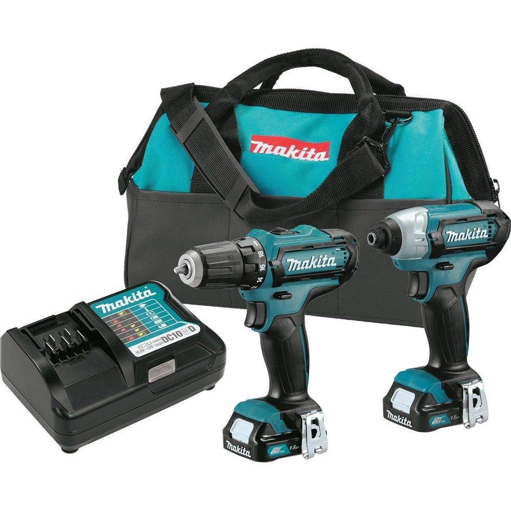 Makita 12 Volt Max Cxt Lithium Ion Cordless 3 8 In Drill And Impact Charger Battery Variable Current Up To 2a By L200