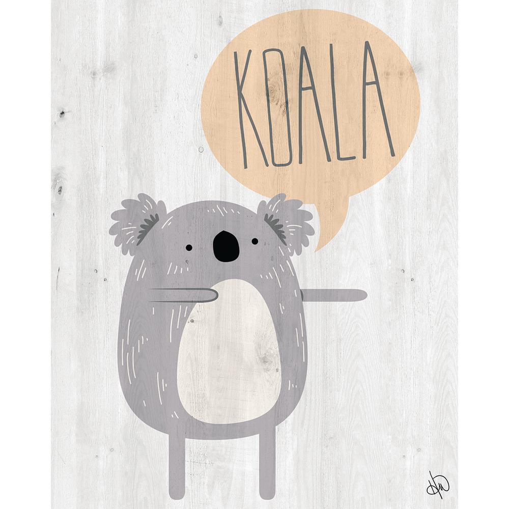 """20 in. x 24 in. """"Koala"""" Wrapped Canvas Wall Art Print"""