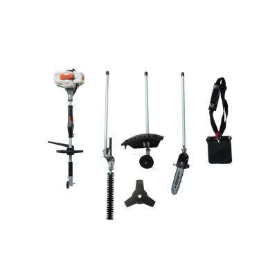 2-Cycle 26 cc Gas Full Crank Shaft 4 in 1 Multi Function String Trimmer with Pole Saw Attachment