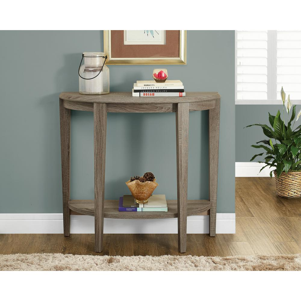 Incroyable Monarch Specialties Dark Taupe Console Table