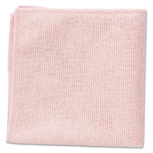 16 in. x 16 in. Light Commercial Red Microfiber Cloth (24-Count)