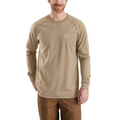 Men's Regular Large Khaki FR Force Long Sleeve T-Shirt