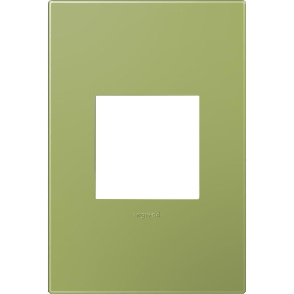 Legrand adorne 1-Gang 1 Module Wall Plate, Lichen Green