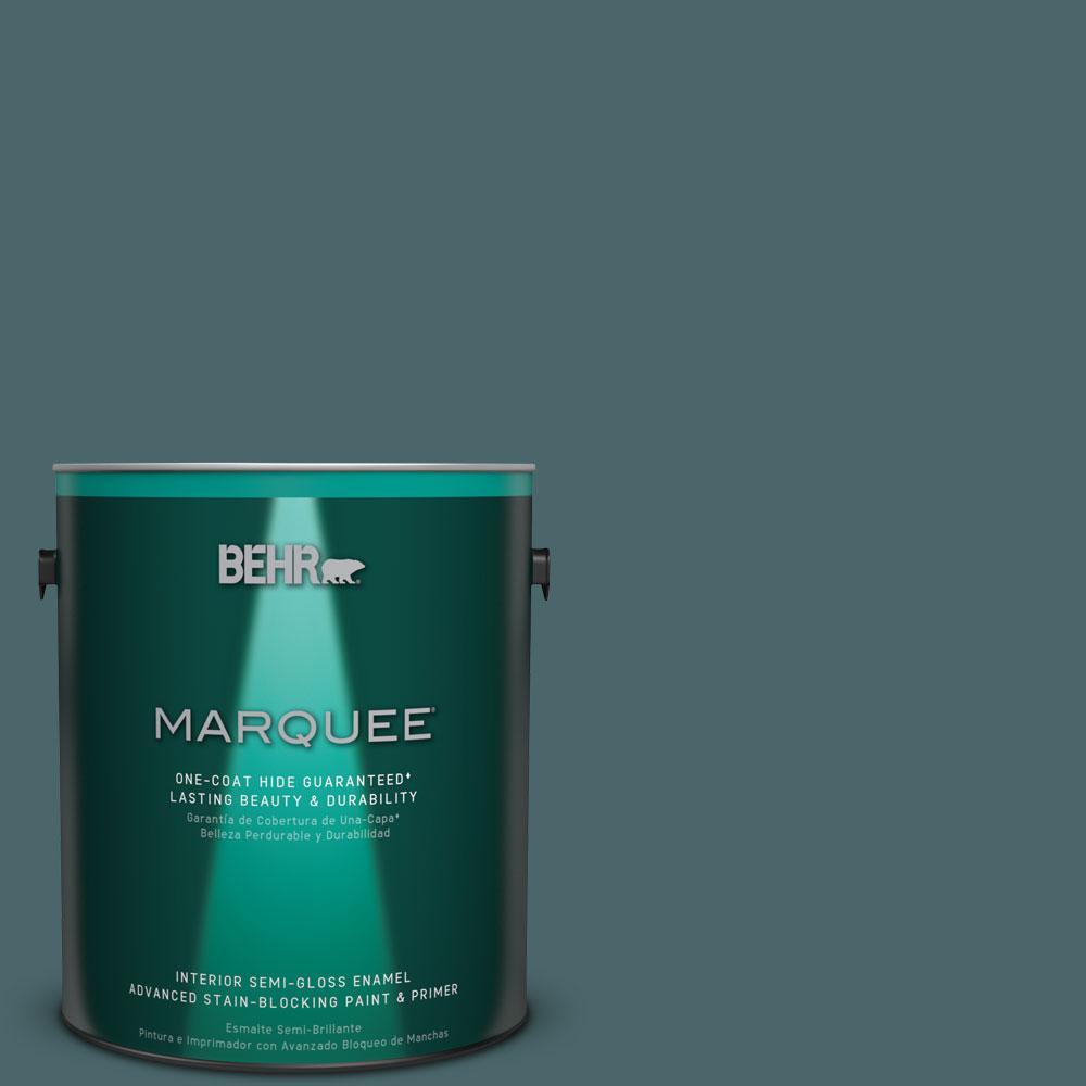 BEHR MARQUEE 1 gal. #MQ6-2 Walk Me Home One-Coat Hide Semi-Gloss Enamel Interior Paint