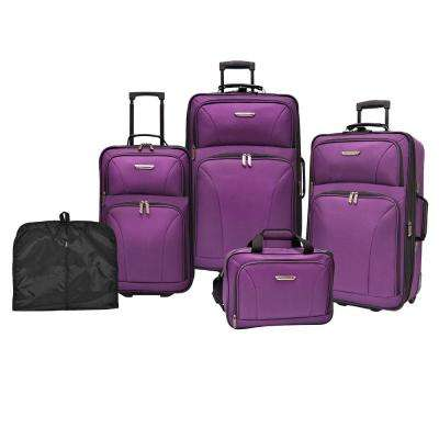 Travelers Choice Versatile 5-Piece Purple Luggage Set