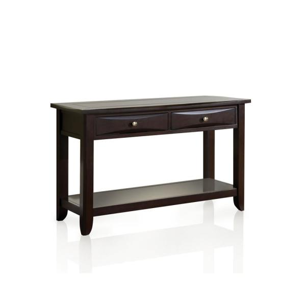 Furniture Of America Antony Espresso 2 Drawer Console Table
