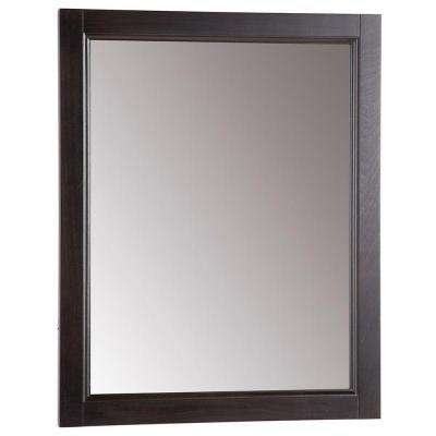 Chelsea 22 in. W x 27 in. H Wall Mirror in Charcoal