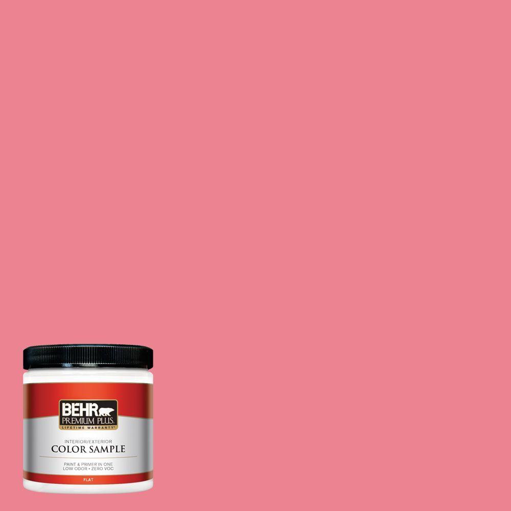 BEHR Premium Plus 8 oz. #130B-5 Bridesmaid Flat Zero VOC Interior/Exterior Paint and Primer in One Sample