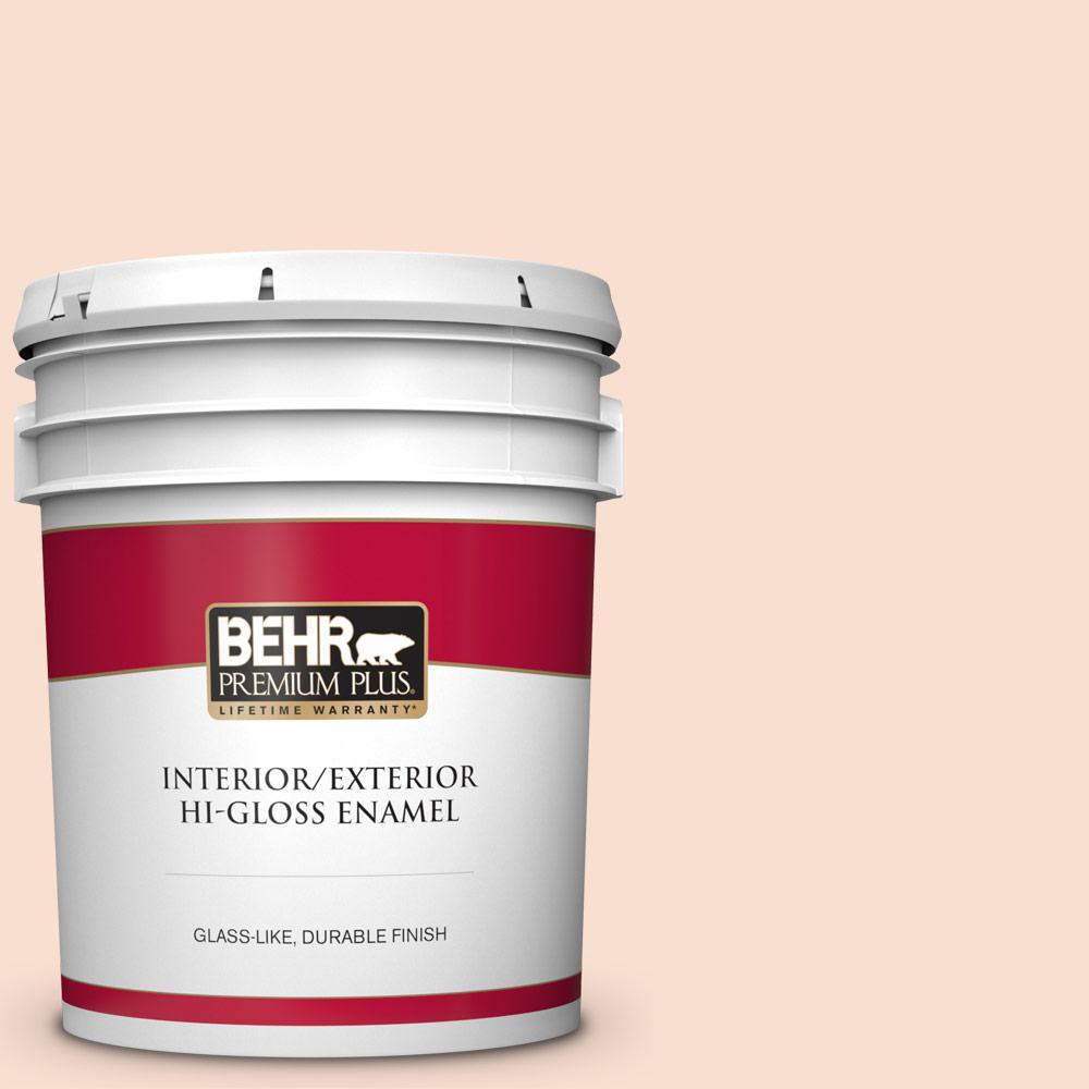 Behr Premium Plus 5 Gal 260a 2 Derry Coast Sunrise Hi Gloss Enamel Interior Exterior Paint