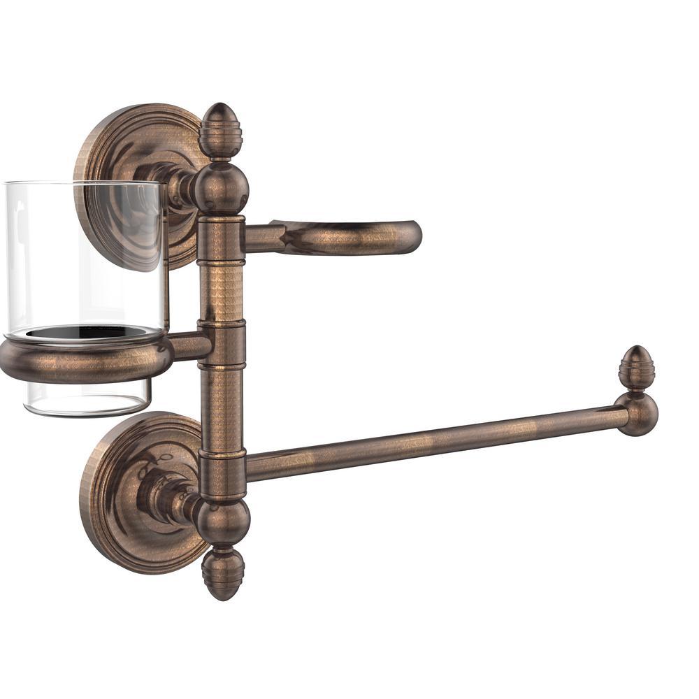 Allied Brass Prestige Regal Collection Hair Dryer Holder and Organizer in Venetian Bronze
