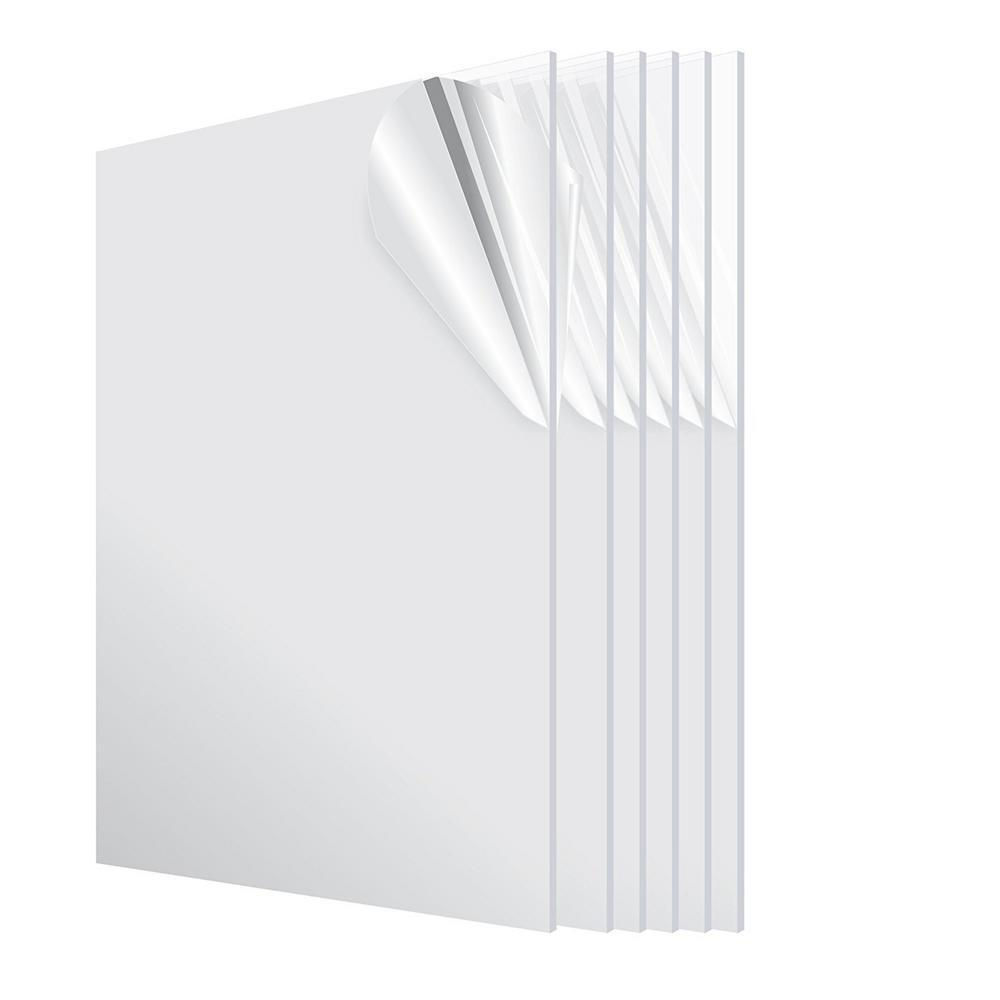 24 in. x 48 in. x 1/8 in. Clear Plexiglass Acrylic Sheet (6-Pack)