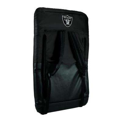 Ventura Oakland Raiders Black Patio Sports Chair with Digital Logo